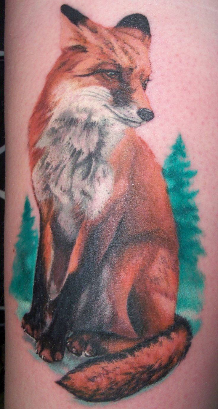 If you decide to get a tattoo look at the image of a fox this animal - Done By Mathew Lukesh At Platinum Rose Studio And Gallery In Cedar Rapids Ia