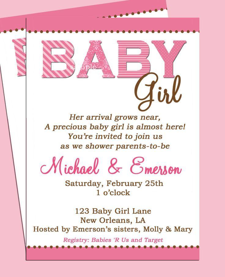 Excessive-Class Child Bathe Invitation Wording - BabySof