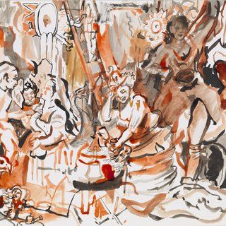 Cecily Brown - Strolling Actresses, Works on Paper