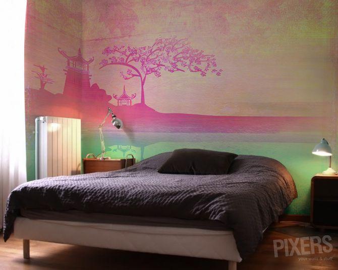 Wall Mural Oriental Rose