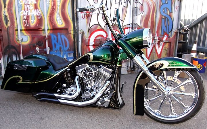 Custom Harley Davidson 1996 FLSTN by Paul Yaffe's Bagger Nation