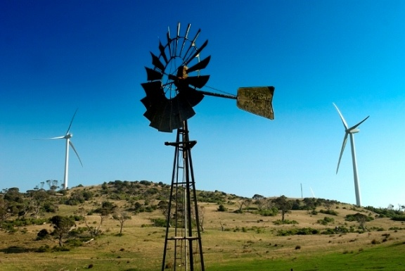 Wind farm at Cape Bridgewater, Victoria. Old technology, with new technology.  #renewable #energy