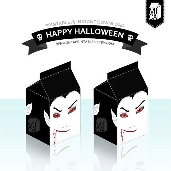 #Halloween #Printables #Party #Favor #Decoration #Dracula by MicaPrintables