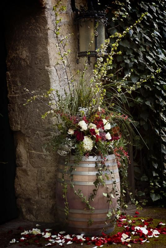 Wine Barrel Planter, LOVE It! Will Be Keeping An Eye Out At Garage Sales