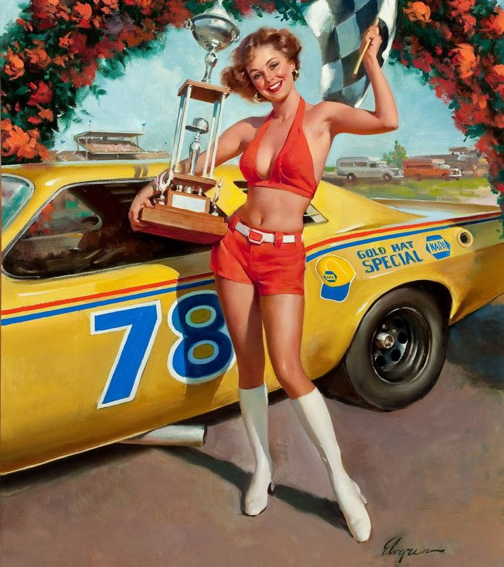 Best Classic Car Pin Up Girls Images On Pinterest Pin Up