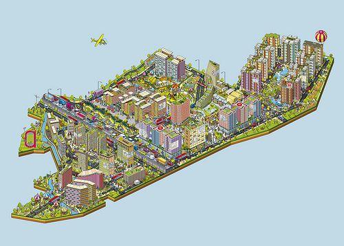 Bhartiya City - City of Joy advertising campaign - City Map Illustration by Rod Hunt