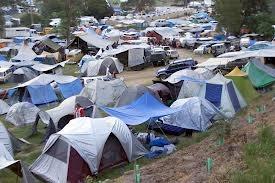 Woodford tent city