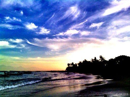 Sinrise in segara's beach