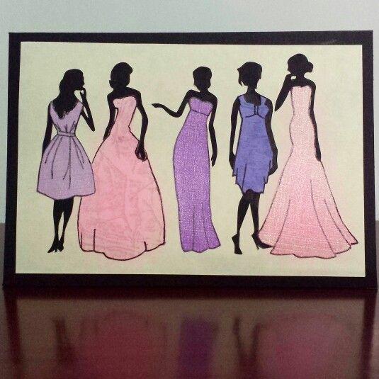 Formal Fashion Silhouette Greeting Card #formal #fashion #lady #silhouette #greetingcard #handmadecards #petalsandperfumecards