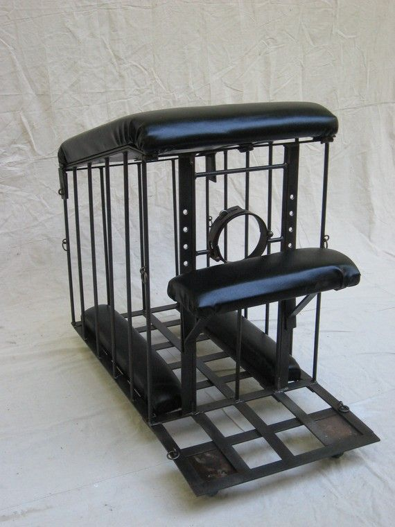 Look what I've just ordered. We will have so much fun Sissy Julia! Spanking bench. Slash rolling cage. dungeon furniture