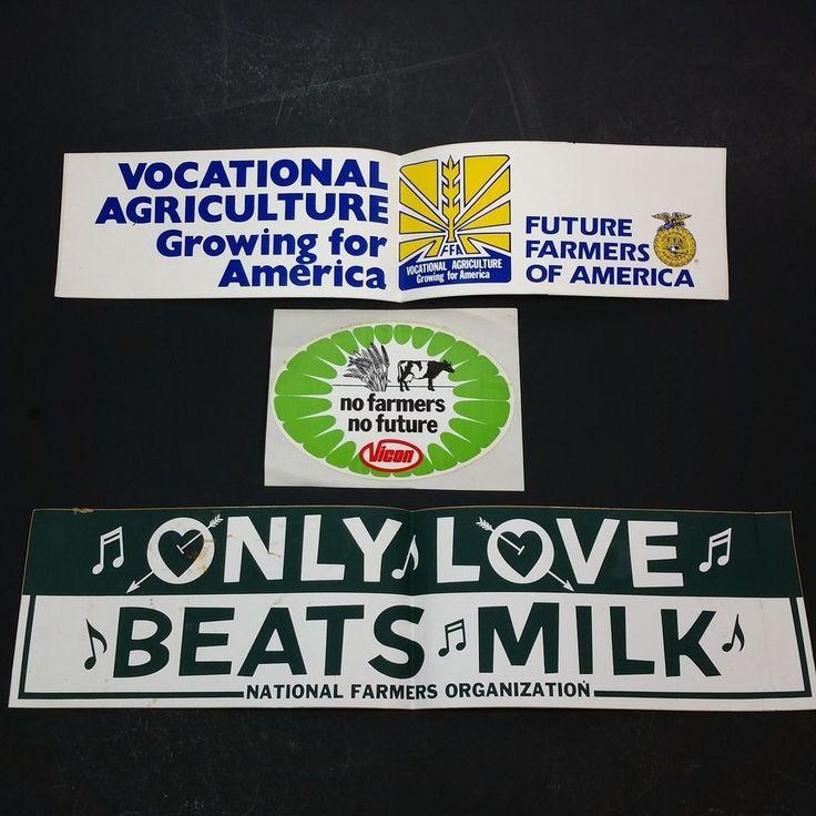 FFA Future Farmers Of America Agriculture Advertising Decal Bumper Sticker Vicon