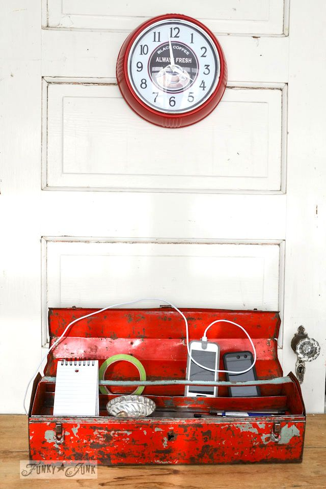 7 easy kitchen storage fixes with upcycles, cleaning tips, kitchen design, shelving ideas, storage ideas, An old metal toolbox can become the perfect c
