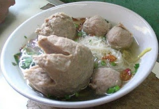 Indonesian Food - Bakso - Bakso or baso or meatball is a food, commonly made from ground meat blended with other ingredients. rolled into balls (small and sometimes bigger) and then to be cooked.