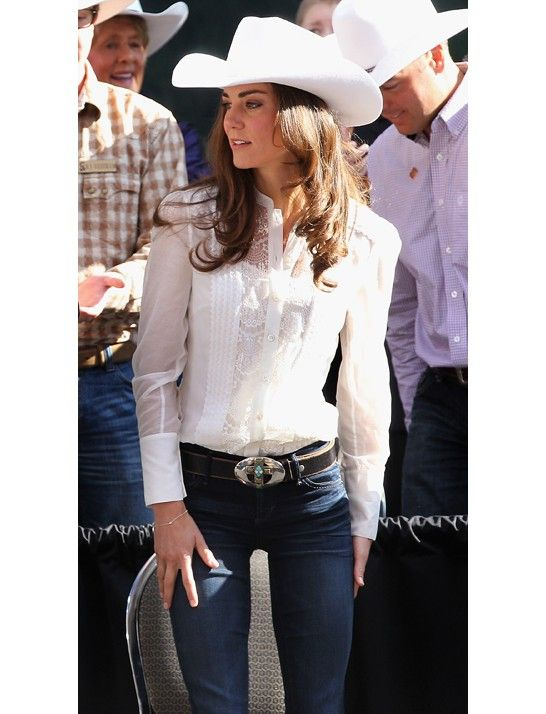 Only the Duchess can truly pull off a white cowboy hat.
