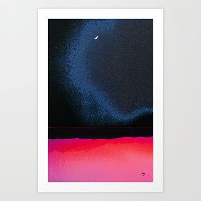 New Moon - Phase III Art Print by Marina Kanavaki - $16.22