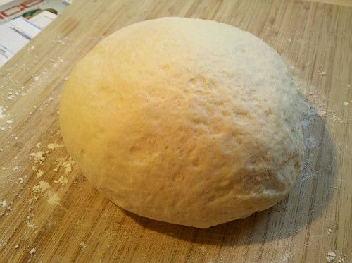 Alton Brown dough ball -- 3.5 stars -- It's hard to judge pizza dough when you're making it in a home oven, but I thought this was better than most.