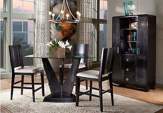 Shop for a Sofia Vergara Biscayne 4 Pc Counter Height Dining Room at Rooms To Go. Find Dining Room Sets that will look great in your home and complement the rest of your furniture.