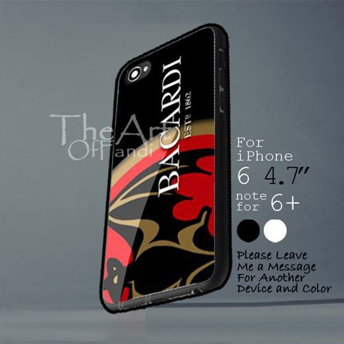 bacardi rum logo estp 1862 case Iphone 6 note for  6 Plus