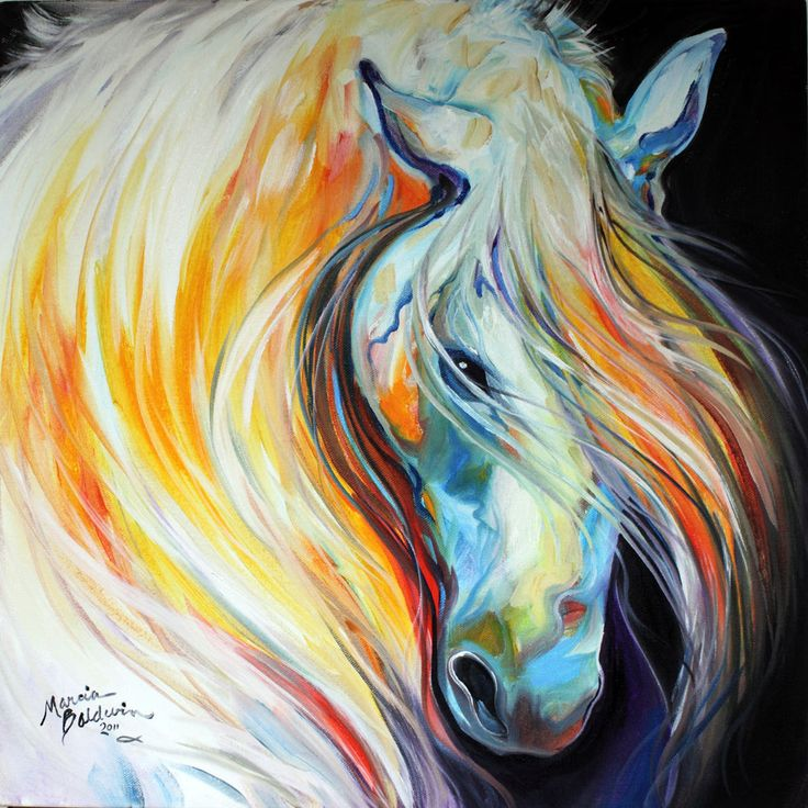 Abstract art gallery lipizzaner original horse art oil for Oil painting ideas abstract