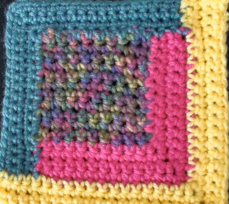 How to make the Log Cabin Crochet Block - This is the written instructions for the block - Please Share