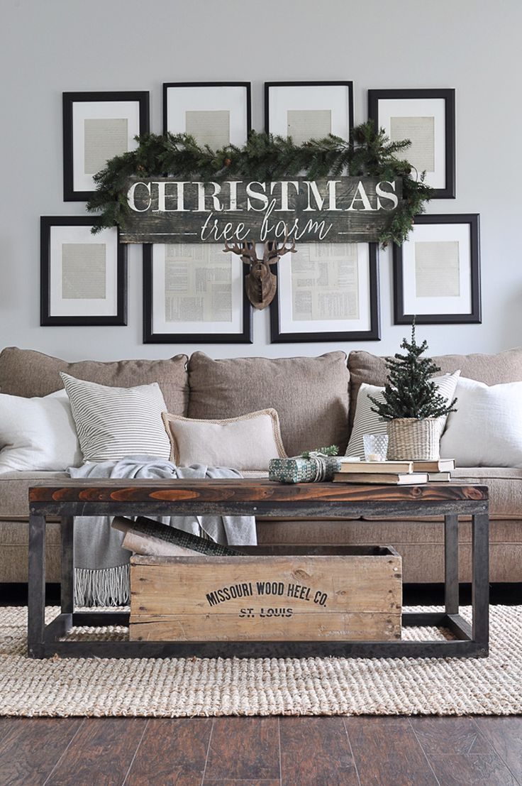 Looking for some great rustic Christmas decor ideas? This post is full of ideas on how you can trade in your colorful decor for a neutral palette. See more at http://ablissfulnest.com/ #Christmas #RusticChristmas #NeutralDecor