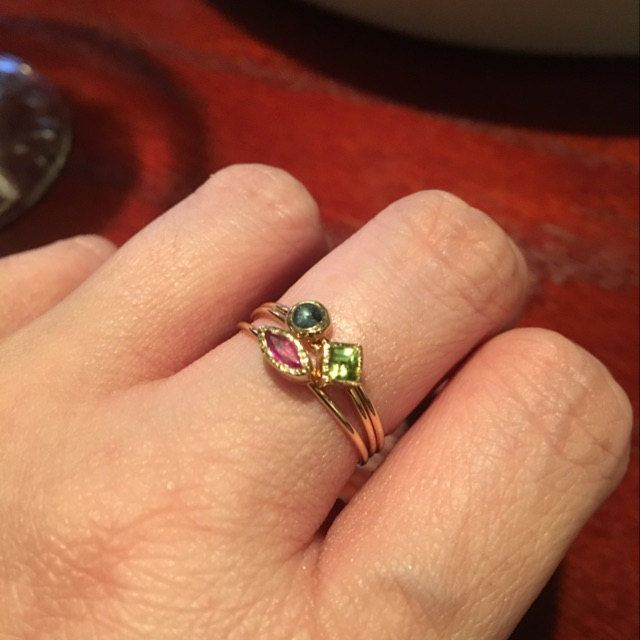 I absolutely love these rings! The quality is solid & so delicate. They are clear & bright. I never take them off. Thank you so much! Please keep doing what you're doing.