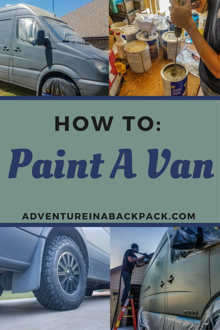 We painted our Sprinter Van completely ourselves using PlastiDip and it turned out GREAT! DIY Campervan | Sprinter Van Conversion | Van Life | Custom Campervan | Van Paint | Custom Paint job