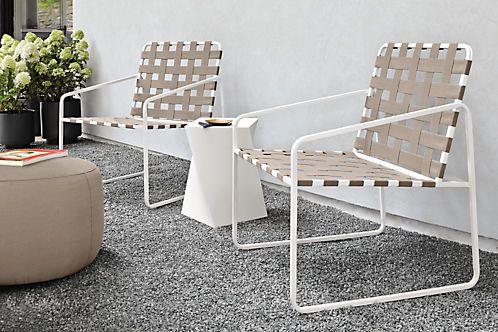 Boyd Modern Round Indoor-Outdoor Ottomans - Modern Outdoor Benches & Ottomans - Modern Outdoor Furniture - Room & Board
