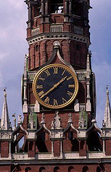Clock Hourglass Time:  Spasskaya Tower #Clock, Moscow, Russia.