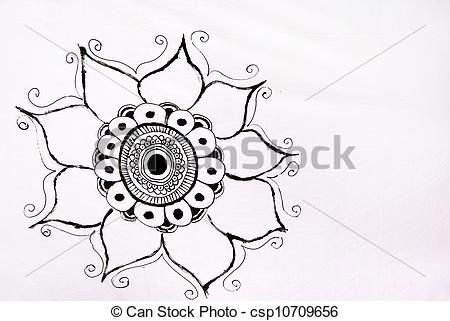 stilizzato, disegno, girasole - csp10709656