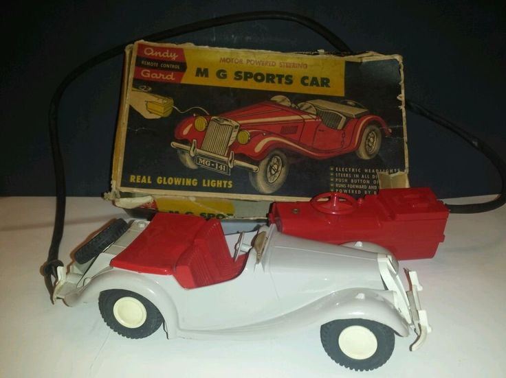 Vintage andy gard remote control mg sports car with box for 2 box auto profondo