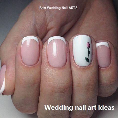 35 Simple Ideas for Wedding Nails Design #weddingnails #nailartideas