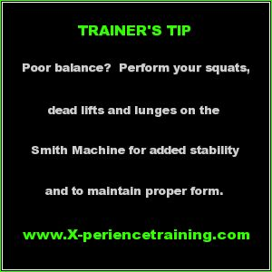 If poor balance is an issue for you when strength training...try the Smith Machine!