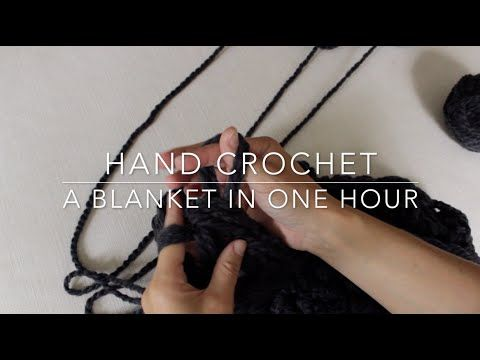 No crochet hook required! Hand crochet a chunky throw in an hour and all you need is yarn! Watch this step by step tutorial to learn how. To see photos of th...