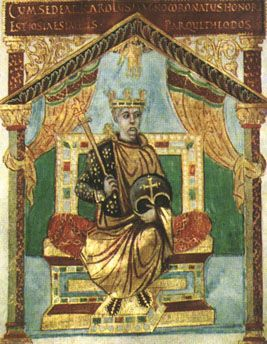 Charles the Bald (823-866). Half-brother of Lothair and Louis (born to Louis the Pious' second wife). As a result of the Treaty of Verdun (843), Chas rules West Francia