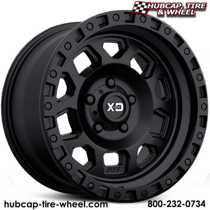 MKC XD Series XD132 RG2 Satin Black Wheels & Rims