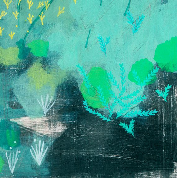 archival fine art giclee print . semi abstract landscape . kangaroo paw. $33.00, via Etsy.