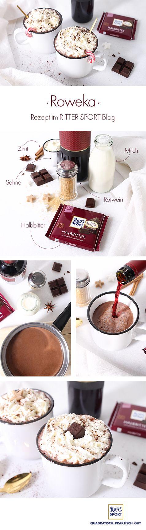 Das Wintergetränk 2017: Heiße Rotwein-Schokolade! #redwinehotchocolate #roweka #heißeschokolade #gluehwein #kakao #rittersport