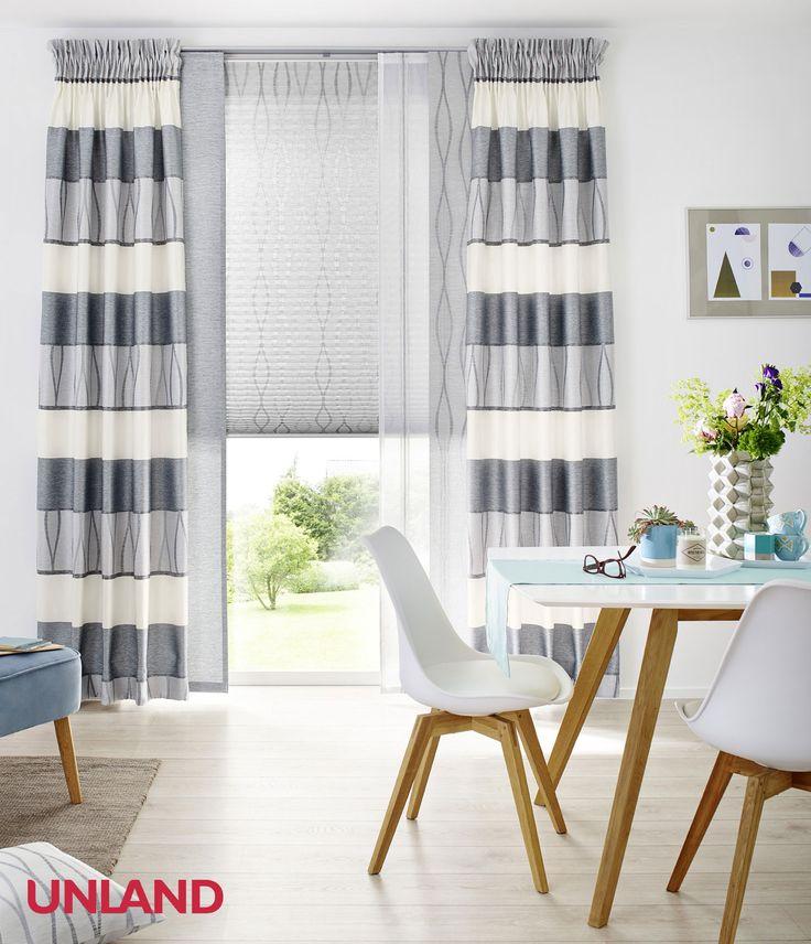 34 besten Gardinen Bilder auf Pinterest Badezimmer, Gardinen und - gardinen fur wohnzimmer modern