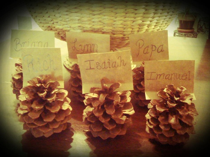 homemade thanksgiving place cards