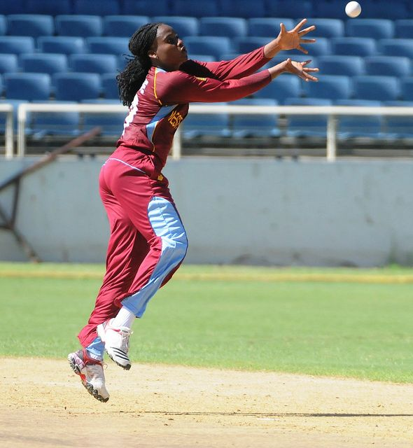 Subrina Munroe   In action against White Ferns