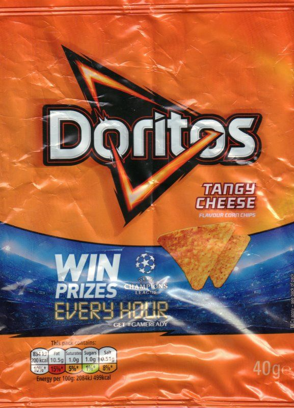 Crisps [Chips], Nuts & Snacks - Walkers - Doritos Tangy Cheese - UK