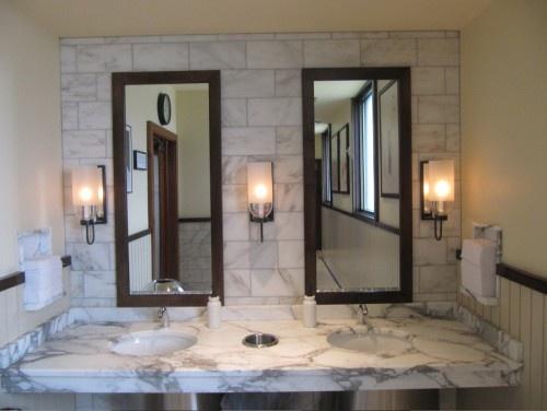 White Marble Bathroom This Will Always Look Good Traditional BathroomWhite MarbleBathroom IdeasCarraraSt LouisSinksMarblesBathroomsMirrors