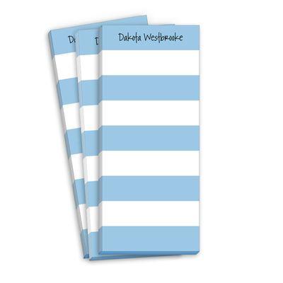Blue Stripe Skinnie Notepads