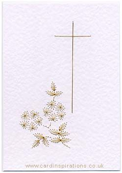 Wild rose and Easter cross card