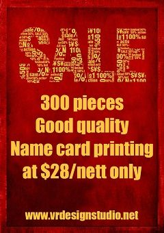 300pcs good quality name card printing at $28 only