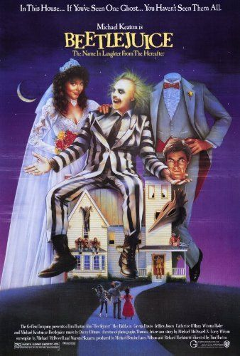 beetlejuice poster movie 27 x 40 inches 69cm x 102cm 1988