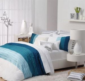 Logan And Mason Villa Blue Aqua King Size Bed Quilt Doona Cover Set 3pc New