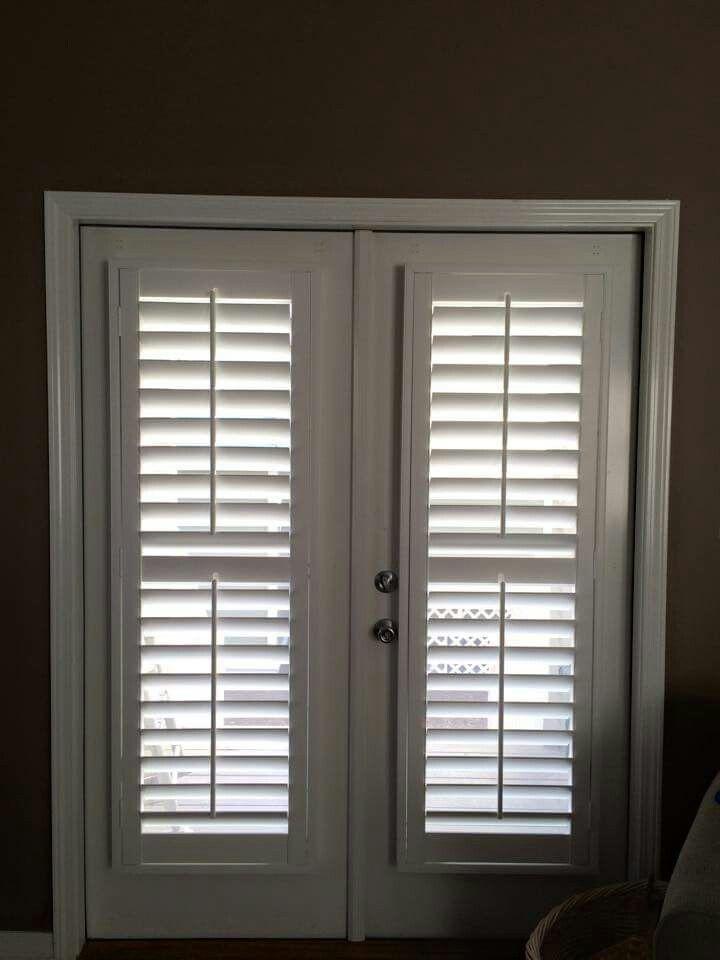 26 best front door images on pinterest indoor shutters for Shutter window treatment ideas