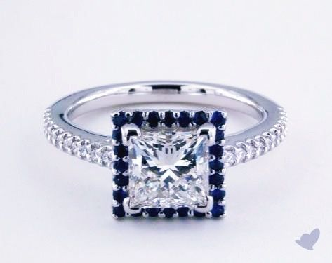Now trending on James Allen: Not your ordinary halo! A stunning sapphire halo frames the exquisite True Hearts princess cut diamond ring, with pavé diamonds along the band. #TuesdayTrends #jamesallenrings #sapphire #diamond #rings